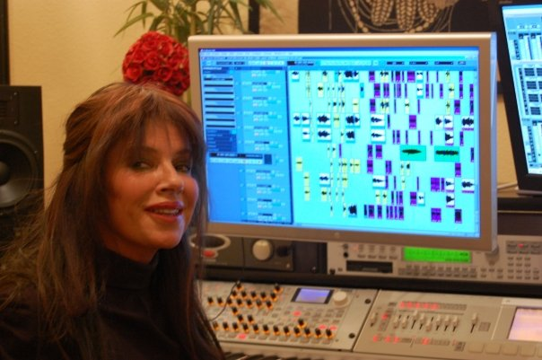Lia working in Cubase