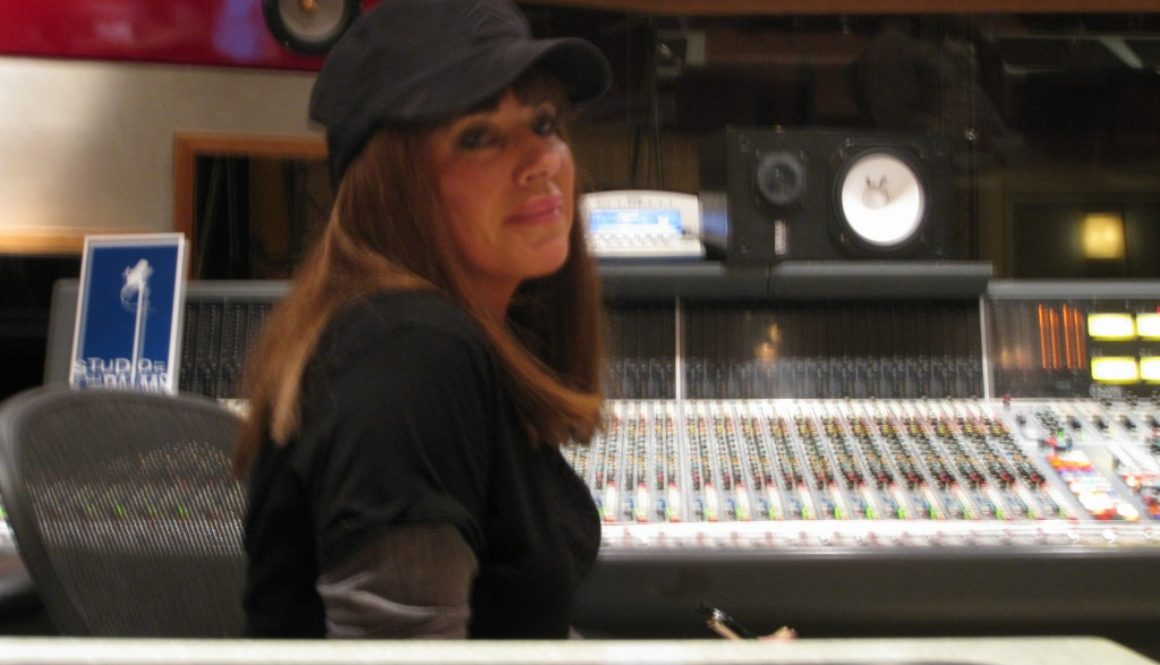 Lia at the main consul of the Palms Recording Studio