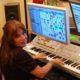 Lia Shapiro of AlLiEn TriBe at her Indio, CA music studio