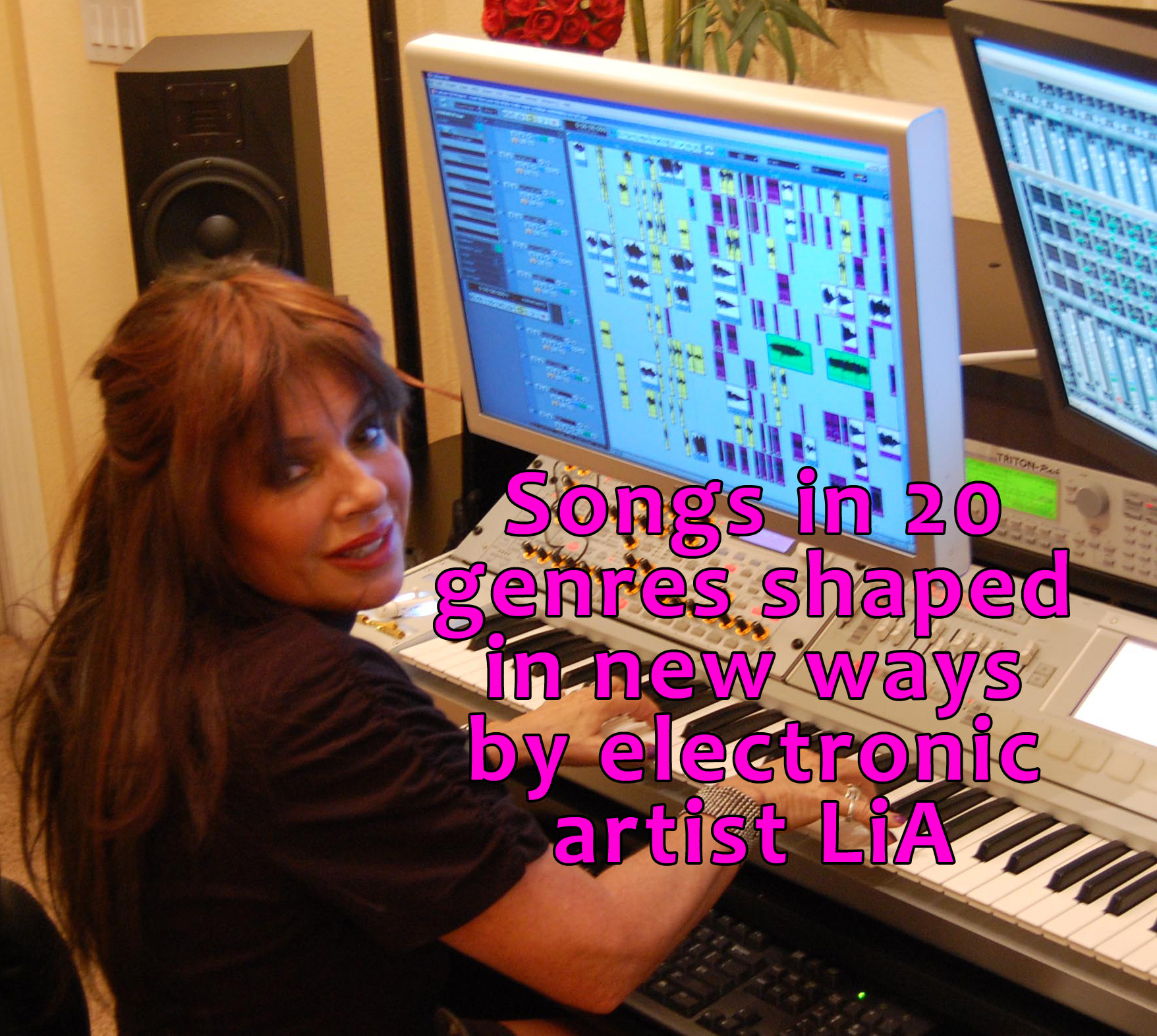Lia, the songwriter, performer, sound designer, mixer, engineer and producer of ALiEn TRiBe has recorded songs in over 20 genres featured on her 9 albums